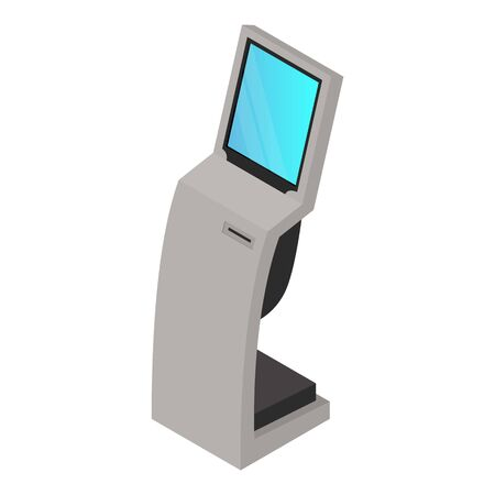 Terminal kiosk icon. Isometric of terminal kiosk vector icon for web design isolated on white background Vektorové ilustrace