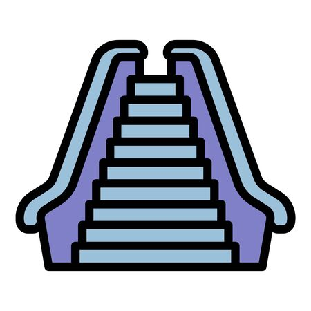 Escalator icon. Outline escalator vector icon for web design isolated on white background 矢量图像