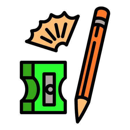 Pencil sharpener icon. Outline pencil sharpener vector icon for web design isolated on white background Stock Illustratie