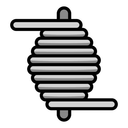 Steel coil icon. Outline steel coil vector icon for web design isolated on white background