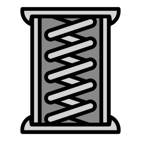 Copper coil icon. Outline copper coil vector icon for web design isolated on white background