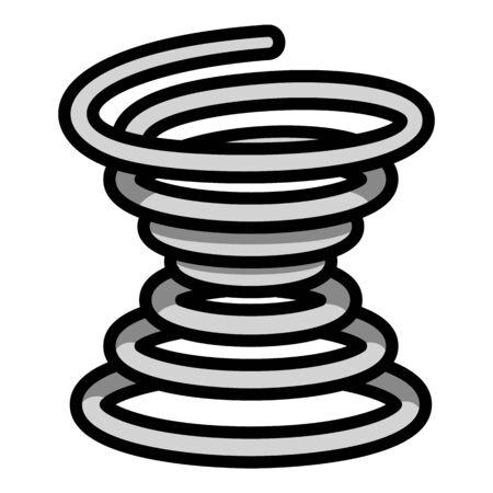 Metal coil icon. Outline metal coil vector icon for web design isolated on white background