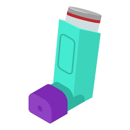 Breath inhaler icon. Isometric of breath inhaler vector icon for web design isolated on white background