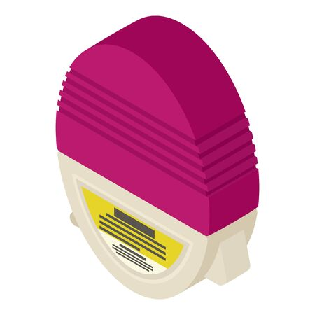 Medical inhaler icon. Isometric of medical inhaler vector icon for web design isolated on white background