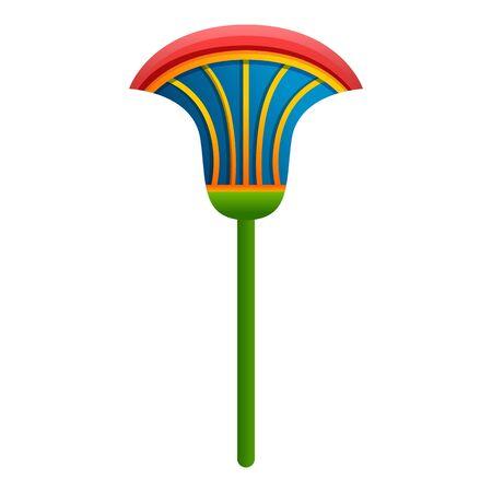 Egypt lotus icon. Cartoon of Egypt lotus vector icon for web design isolated on white background Vektoros illusztráció