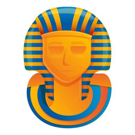 Icono de monumento al faraón. Caricatura del monumento al faraón icono vectoriales para diseño web aislado sobre fondo blanco. Ilustración de vector