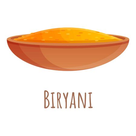 Biryani food icon. Cartoon of biryani food vector icon for web design isolated on white background