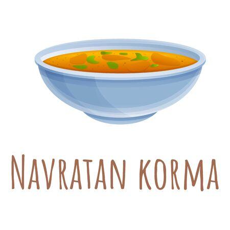 Navratan korma icon. Cartoon of navratan korma vector icon for web design isolated on white background