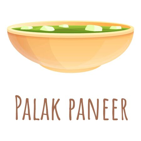 Palak paneer icon. Cartoon of palak paneer vector icon for web design isolated on white background