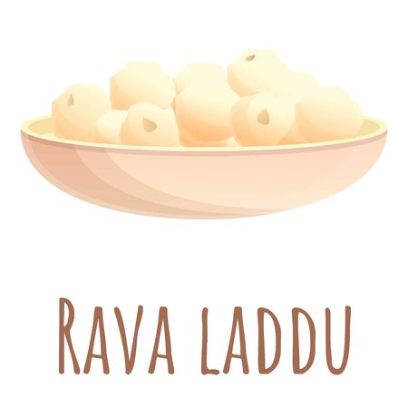 Rava laddu food icon. Cartoon of rava laddu food vector icon for web design isolated on white background
