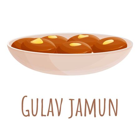 Gulav jamun food icon. Cartoon of gulav jamun food vector icon for web design isolated on white background Banque d'images - 137165986