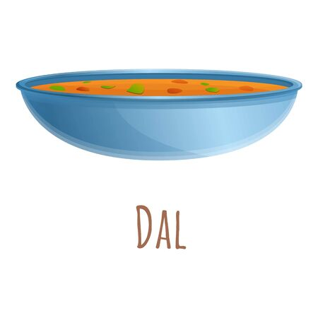 Dal food icon. Cartoon of dal food vector icon for web design isolated on white background Illustration