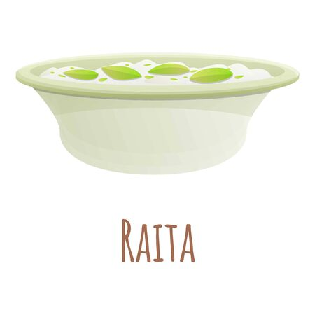 Raita food icon. Cartoon of raita food vector icon for web design isolated on white background Banque d'images - 137090848