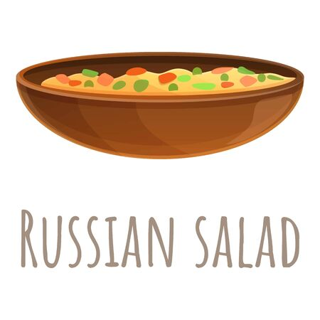 Russian salad icon. Cartoon of russian salad vector icon for web design isolated on white background