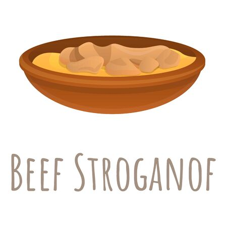 Beef stroganof icon. Cartoon of beef stroganof vector icon for web design isolated on white background