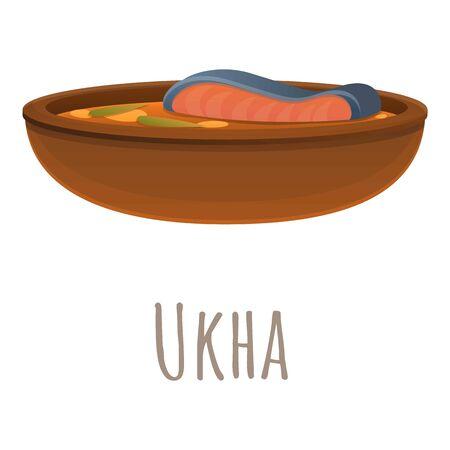 Ukha icon. Cartoon of ukha vector icon for web design isolated on white background Vetores