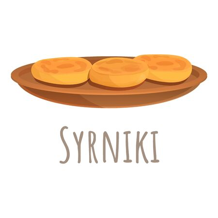 Syrniki icon. Cartoon of syrniki vector icon for web design isolated on white background