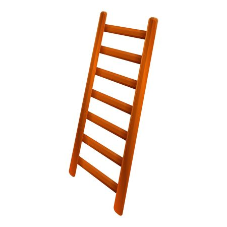 Ladder equipment icon. Cartoon of ladder equipment vector icon for web design isolated on white background