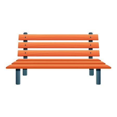 Klasyczna ikona ławki. Kreskówka klasycznej ławki wektor ikona do projektowania stron internetowych na białym tle Ilustracje wektorowe