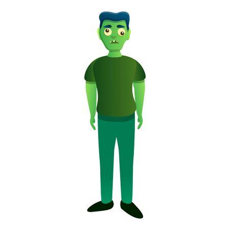Zombie icon. Cartoon of zombie vector icon for web design isolated on white background Vektorgrafik