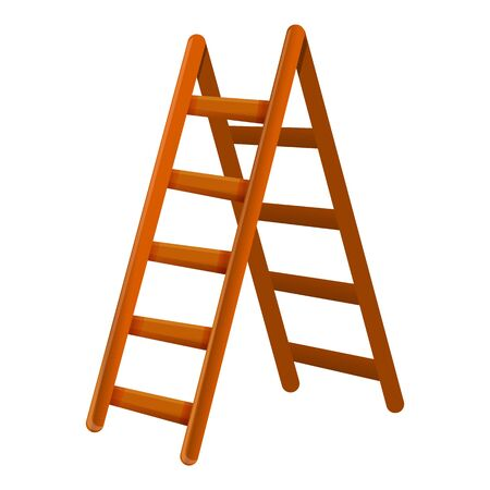 Household ladder icon. Cartoon of household ladder vector icon for web design isolated on white background