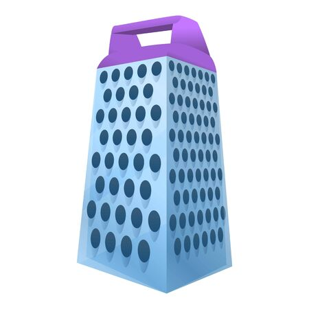 Grater icon. Cartoon of grater vector icon for web design isolated on white background