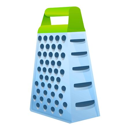 Kitchen grater icon. Cartoon of kitchen grater vector icon for web design isolated on white background Vetores