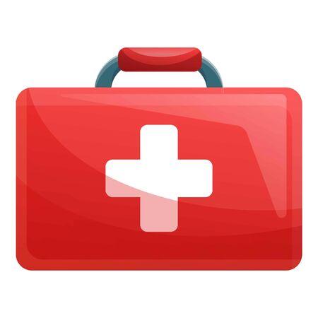 Erste-Hilfe-Set-Symbol. Karikatur des Erste-Hilfe-Set-Vektorsymbols für Webdesign isoliert auf weißem Hintergrund Vektorgrafik