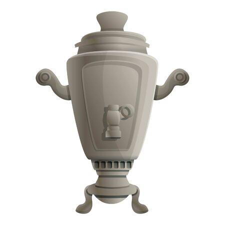 Steel samovar icon. Cartoon of steel samovar vector icon for web design isolated on white background