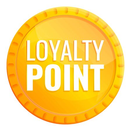 Loyalty gold point icon. Cartoon of loyalty gold point vector icon for web design isolated on white background