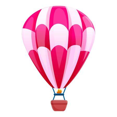 Luftballon-Korb-Symbol. Cartoon des Luftballonkorb-Vektorsymbols für Webdesign isoliert auf weißem Hintergrund
