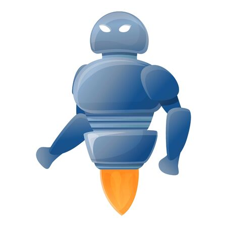 Rocket robot icon. Cartoon of rocket robot vector icon for web design isolated on white background
