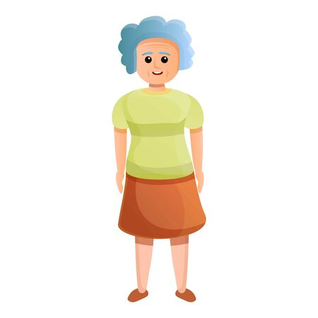 Grandmother icon. Cartoon of grandmother vector icon for web design isolated on white background