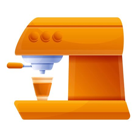 Equipment coffee machine icon. Cartoon of equipment coffee machine vector icon for web design isolated on white background