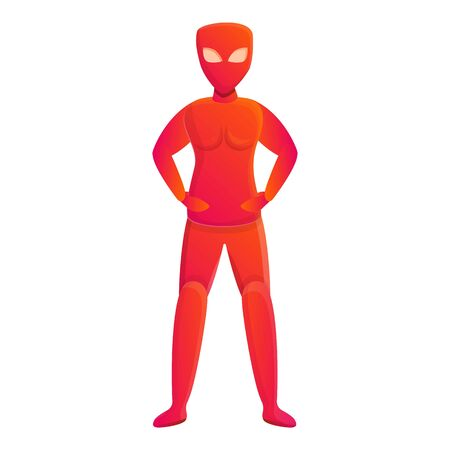 Red superhero icon. Cartoon of red superhero vector icon for web design isolated on white background