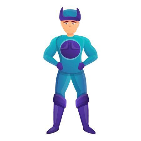 Comic superhero icon. Cartoon of comic superhero vector icon for web design isolated on white background 向量圖像