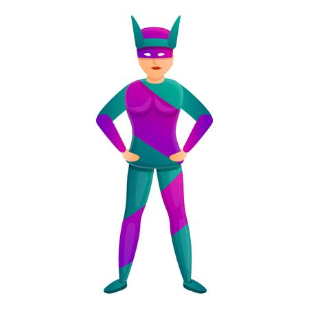 Famous superhero icon. Cartoon of famous superhero vector icon for web design isolated on white background