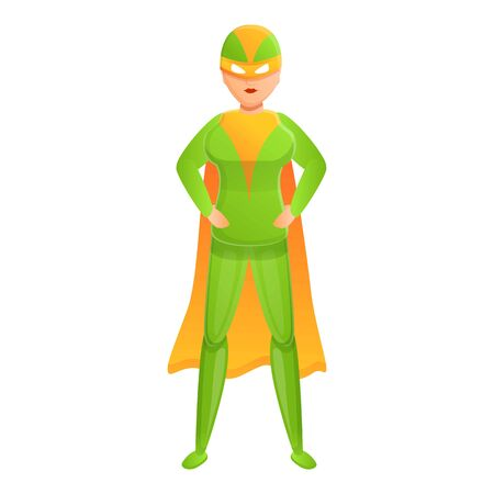 Power superhero icon. Cartoon of power superhero vector icon for web design isolated on white background