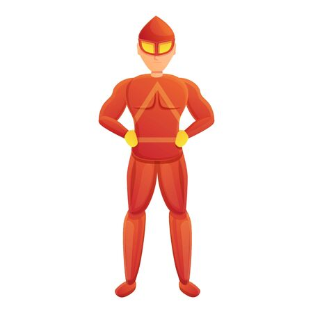 Red costume superhero icon. Cartoon of red costume superhero vector icon for web design isolated on white background