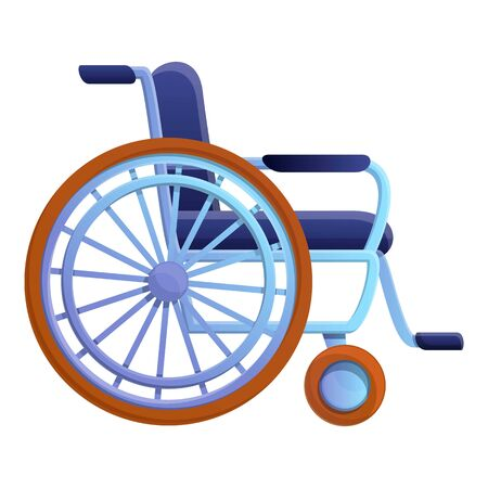 Hospital wheelchair icon. Cartoon of hospital wheelchair vector icon for web design isolated on white background