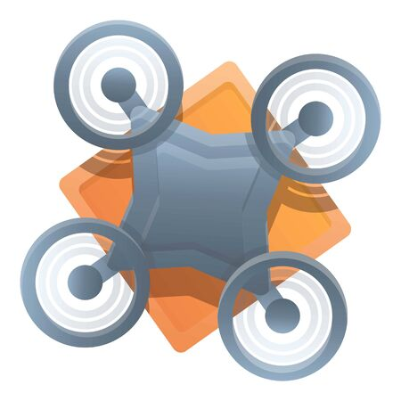 Logistic drone delivery icon. Cartoon of logistic drone delivery vector icon for web design isolated on white background