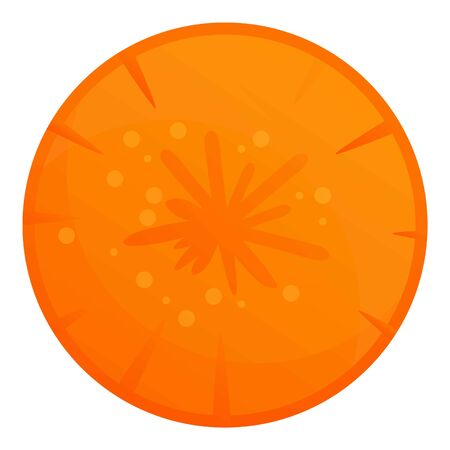 Carrot circle icon. Cartoon of carrot circle vector icon for web design isolated on white background
