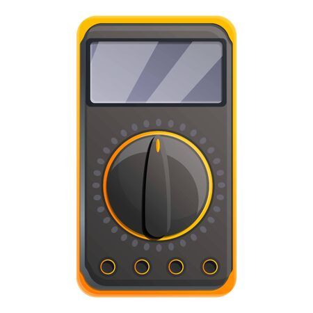 Electric multimeter icon. Cartoon of electric multimeter vector icon for web design isolated on white background Иллюстрация