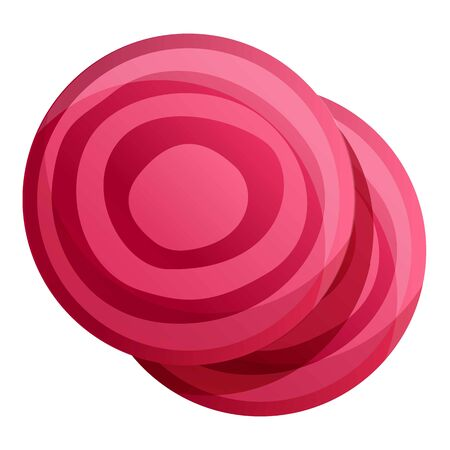 Sliced beet icon. Cartoon of sliced beet vector icon for web design isolated on white background Illusztráció
