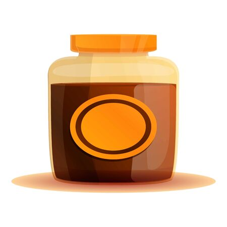 Mustard jar icon. Cartoon of mustard jar vector icon for web design isolated on white background