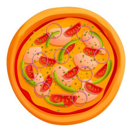 Italian pizza icon. Cartoon of italian pizza vector icon for web design isolated on white background