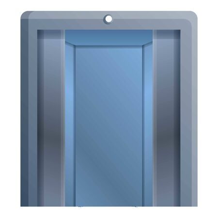 Metal elevator icon. Cartoon of metal elevator vector icon for web design isolated on white background