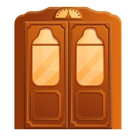Retro elevator icon. Cartoon of retro elevator vector icon for web design isolated on white background