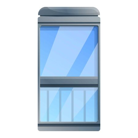 Glass elevator icon. Cartoon of glass elevator vector icon for web design isolated on white background