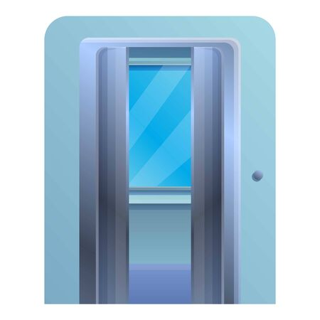 Window open elevator icon. Cartoon of window open elevator vector icon for web design isolated on white background